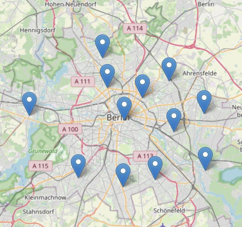 Bild Karte Intensiv Schwimmangebote Berlin